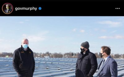 Great Meeting with Governor Phil Murphy at the First Completed Solar Project in New Jersey